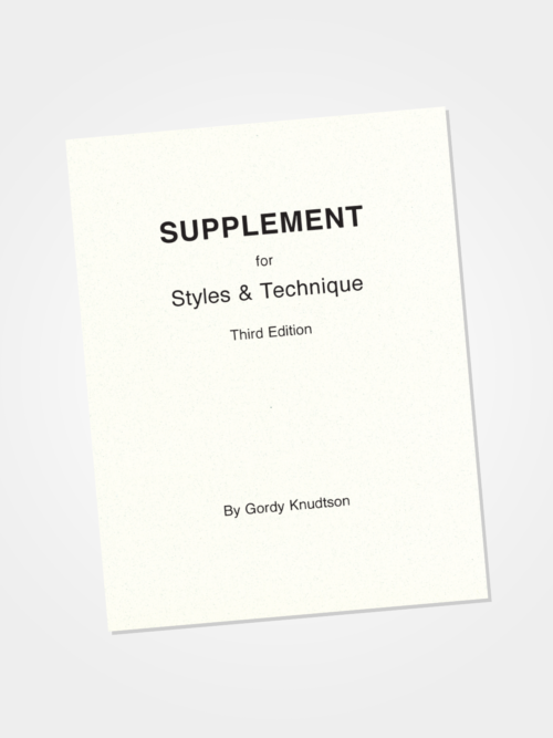 Supplement for Styles & Technique